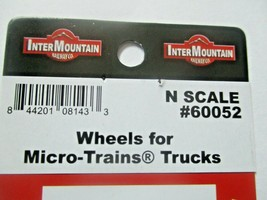 """Intermountain # 60052 Brass Insulated Wheelsets for Micro-Trains Trucks .0537"""" image 2"""