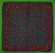 'Robert Talbott Italian Silk Teal Abstract Pocket Sq' - $75.00