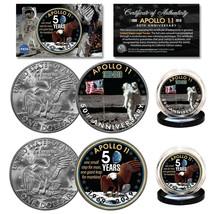 APOLLO 11 50th Anniversary Man on Moon Genuine Eisenhower Dollar NASA 2-... - $18.66
