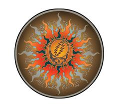 Grateful Dead SYF Sun  Outside Window Sticker Deadhead  Car Decal  Hippie  - $5.49