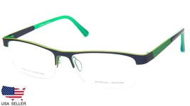 NEW PRODESIGN DENMARK 1408 c.9031 BLUE MATT EYEGLASSES FRAME 56-17-145 B... - $123.73