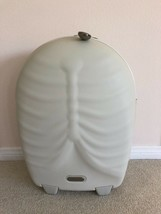 Alexander Mc Queen Samsonite White Rib Cage Trolley Hero Upright Luggage Suitcase - $1,188.00