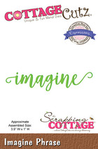 Imagine. Cottage Cutz Die. Card Making. Scrapbooking CLEARANCE