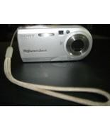 Sony Cyber-shot DSC-P100 5.1MP Digital Camera - Silver - AS IS -PARTS ON... - $18.80