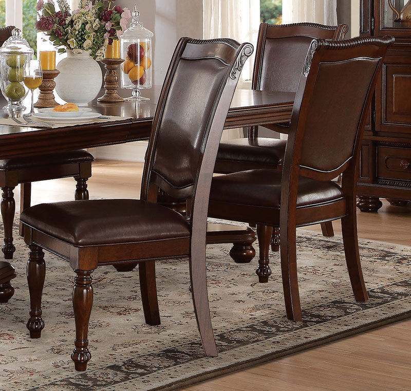 Brown Traditional 5 Piece Round Dining Set Cally: NEW PORTOLA Traditional Dining Room Set