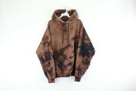 Vintage 90s Streetwear Herren 2XL Distressed Acid Wash Kapuzenpullover T... - $59.34