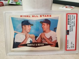 1960-Topps-160-PSA-4-VG-EX-RIVAL-ALL-STARS-Mantle-Boyer-HOF-Baseball-Car... - $33.25