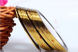 G: 2PCS GOLD Rolls Striping Tape Line Nail Tips Sticker DIY w/Free Gift - $1.89