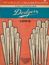 Vintage World Champions Los Angeles Dodgers 1964 Official Dodger Score Card - $49.49
