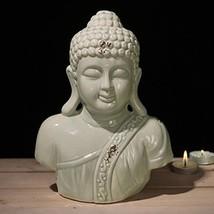 MyGift 7-Inch Ceramic Buddha Statue Bust Figurine in Gray - $14.88