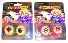 24 PKGS GOOEY DEVIL EYES GLOW IN THE DARK party favors devils novelty it... - $18.99