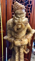 """LARGE (39"""") Chinese Hand-Carved Natural Agate Alabaster Statue - VERY OLD RARE! - $9,702.00"""