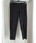 Second Skin Solid Black Compression Crop Leggings Sz Large Small - $17.81