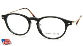 NEW GIORGIO ARMANI AR 7010-F 5017 BLACK EYEGLASSES FRAME 49-18-140 B40mm... - $173.24