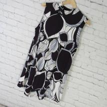 Alfani Shirt Top Tunic Womens Medium M Purple Black White MSRP $60 B49 - $32.50