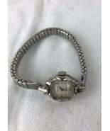 Vintage Gruen Precision 10k  Stainless Watch/ Works!! - $23.38