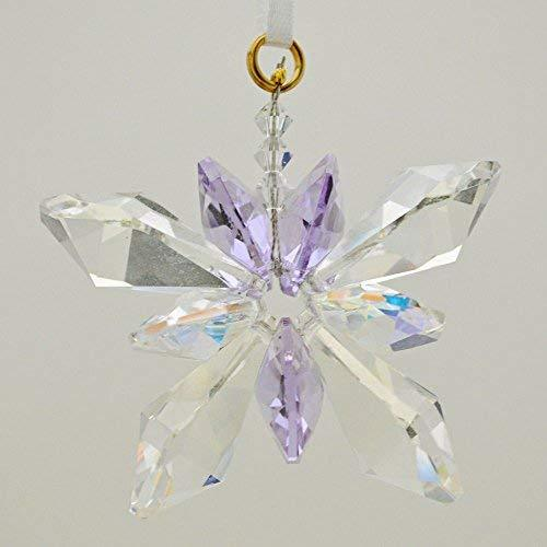 J'Leen Clear Crystal Butterfly Violet Aurora Borealis Accents