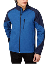 Kirkland Signature Men's Softshell Jacket , Marine Blue Heather , Size M - $29.69