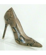 Topshop Itan man made snake print pointed toe slip on pump heel 5.5 EU 36 - $27.69