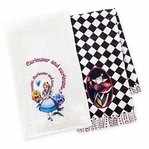 disney parks alice and queen of hearts dish towel set new with tag - $28.45