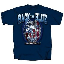 First 1st Responders Back the Blue Badge Police Officers Protect T Shirt... - $19.99+