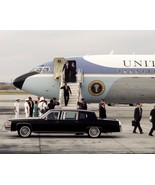 President Ronald Reagan exits Air Force One in California 1988 - New 8x1... - $8.81