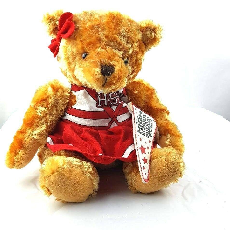 "Disney High School Musical Cheerleader Teddy Bear Stuffed Plush Animal 14"""