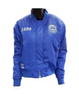 ZETA PHI BETA SORORITY BLUE BOMBER JACKET OLD SCHOOL ZETA FLIGHT JACKET - $110.00
