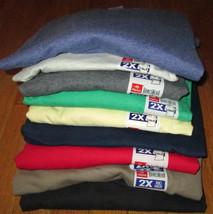 Men's T-Shirt V Neck Hanes 8 Pc 8 color 100 % Cotton 50/50 2XL Gray Yell... - €34,71 EUR