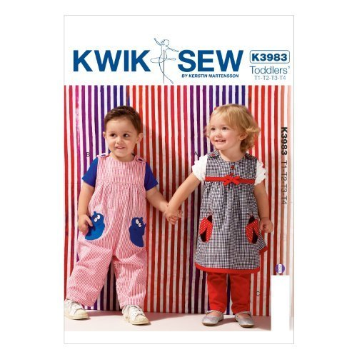 Primary image for KWIK-SEW PATTERNS K3983OSZ Toddlers' Dress Overalls and Pants Sewing Template, A