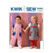 KWIK-SEW PATTERNS K3983OSZ Toddlers' Dress Overalls and Pants Sewing Tem... - $15.68