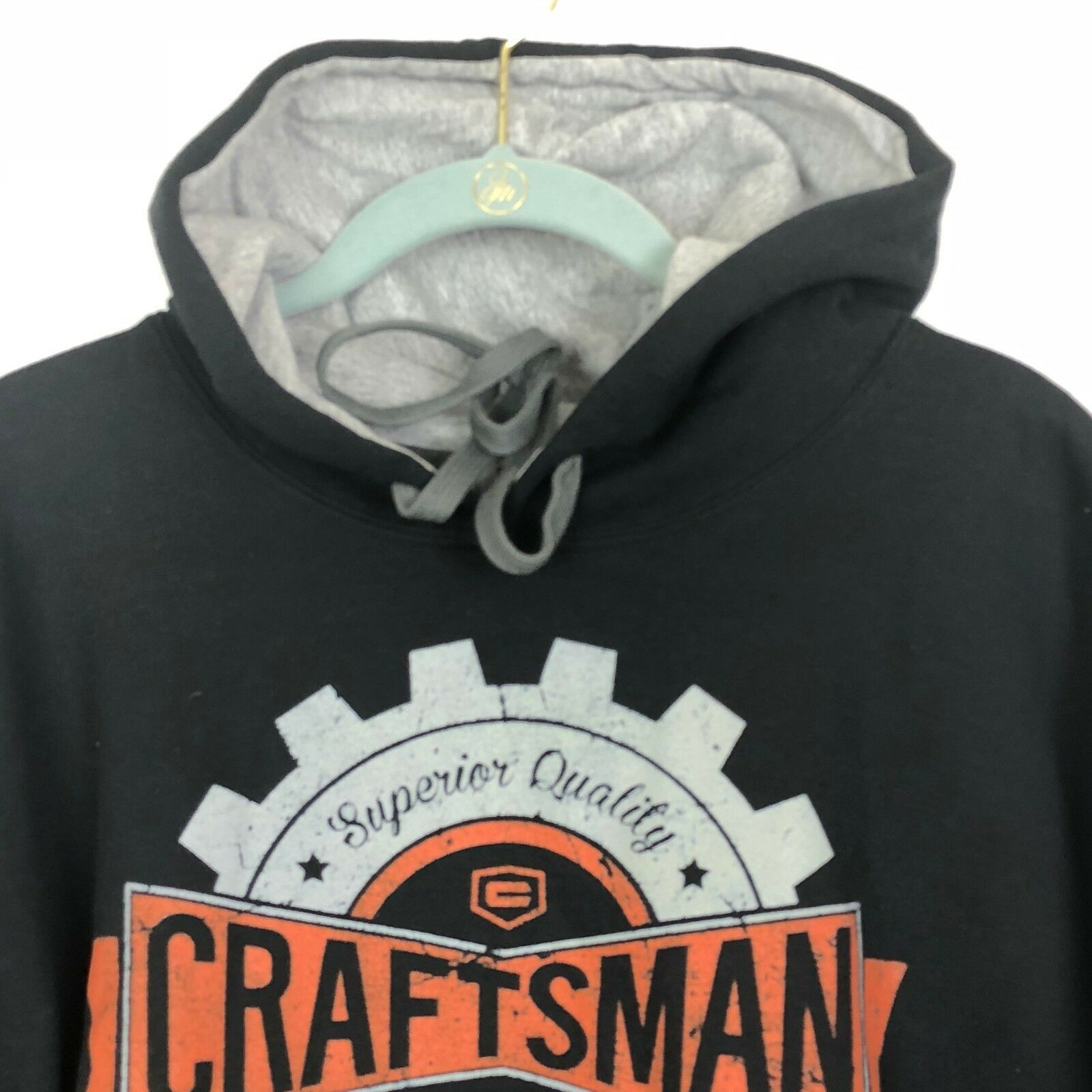 Craftsman Tools Hoodie Sweatshirt Mens  L Black Warm Heavy Rugged image 4