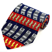 Vicky Davis Call Me Mens Silk Necktie Designer Cell Phone Business Neck ... - $19.75