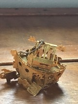 Estate Very Detailed Dimensional NOAH'S ARK Brass Metal Christmas Tree O... - $10.39