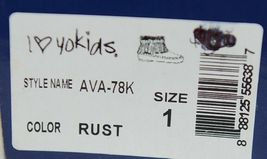 I Love Yo Kids AVA 78K Girls Fringe Boot Rust Silver Studded Size 1 image 9