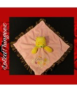 Disney Plush Winnie the Pooh Baby Security Blanket RATTLES Pink CUTE CUDDLY - $24.75