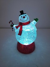 2011 Hallmark Snowman Snow Globe Water Color Changing Lights Decoration ... - $49.49