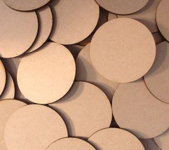 70mm x5 Round MDF Wood Bases Laser Cut Crafts Wargames Miniatures FAST S... - $2.96