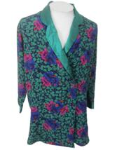 Victorias Secret Women Lounge Sleep Pajama Jacket vtg floral double brea... - $39.59