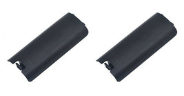 2 x Black Replacment Battery Cover for Nintendo Wii Controller Remote - $4.69