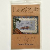 Lizzie Kate EASTER EXPRESS #027 Cross Stitch Pattern Hot Rod Bunny Carrot Car - $4.95