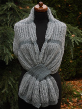 Knitted Infinity scarf, silk, quicksilver strass light color, Womens Acc... - €63,44 EUR