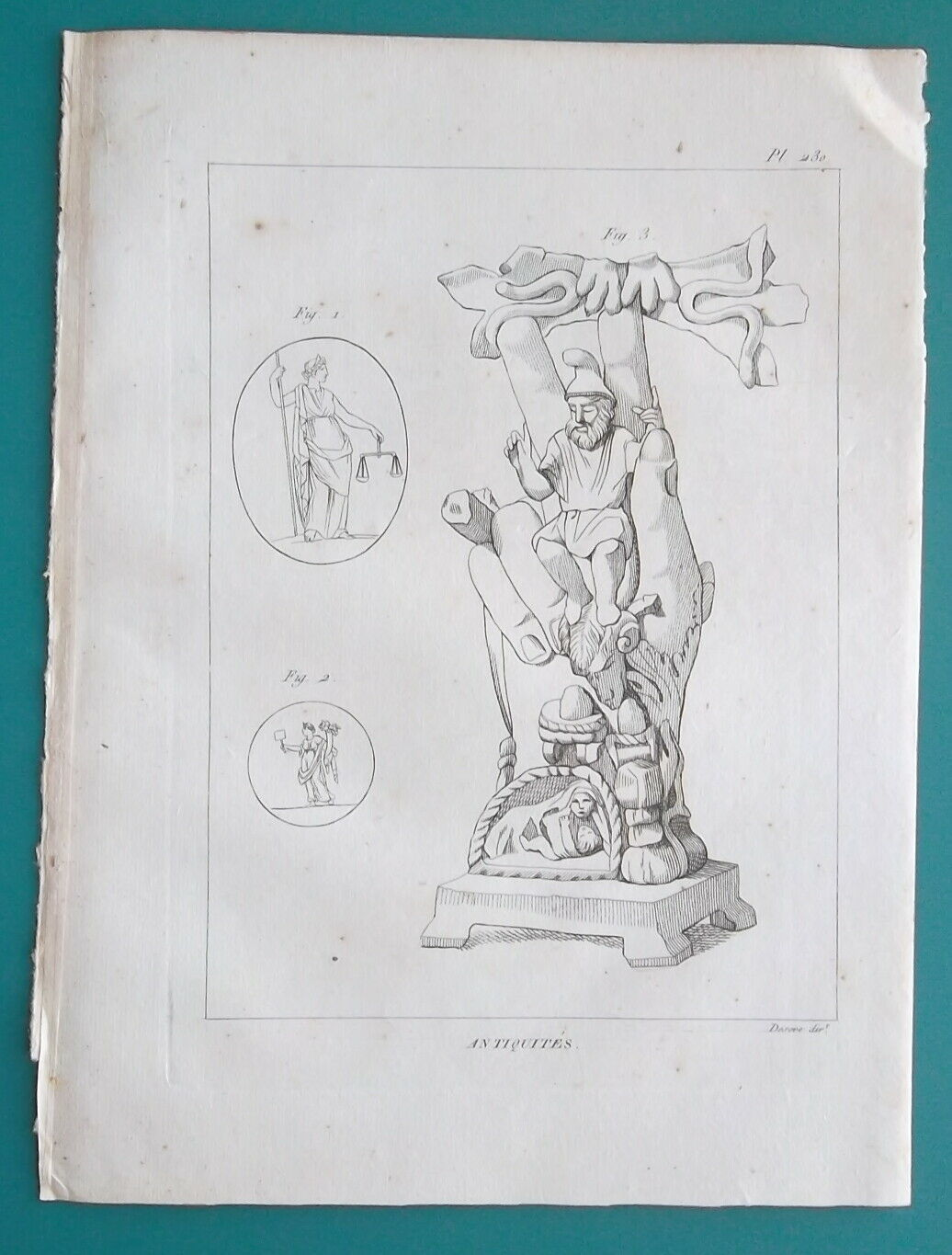 Primary image for MYTHOLOGY Greek Justice Liberty Europe Hand of Pantheus - 2x 1804 Antique Prints