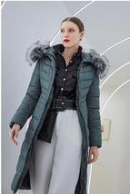 Women's Famous Brand Designer Full Length Quilted Fur Lined Hooded Puffer Parka  image 2