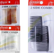 2 Pieces 2-SIDE Combs Hair Clips Styling Accessories CLEAR/BLACK/BROWN - $2.45+