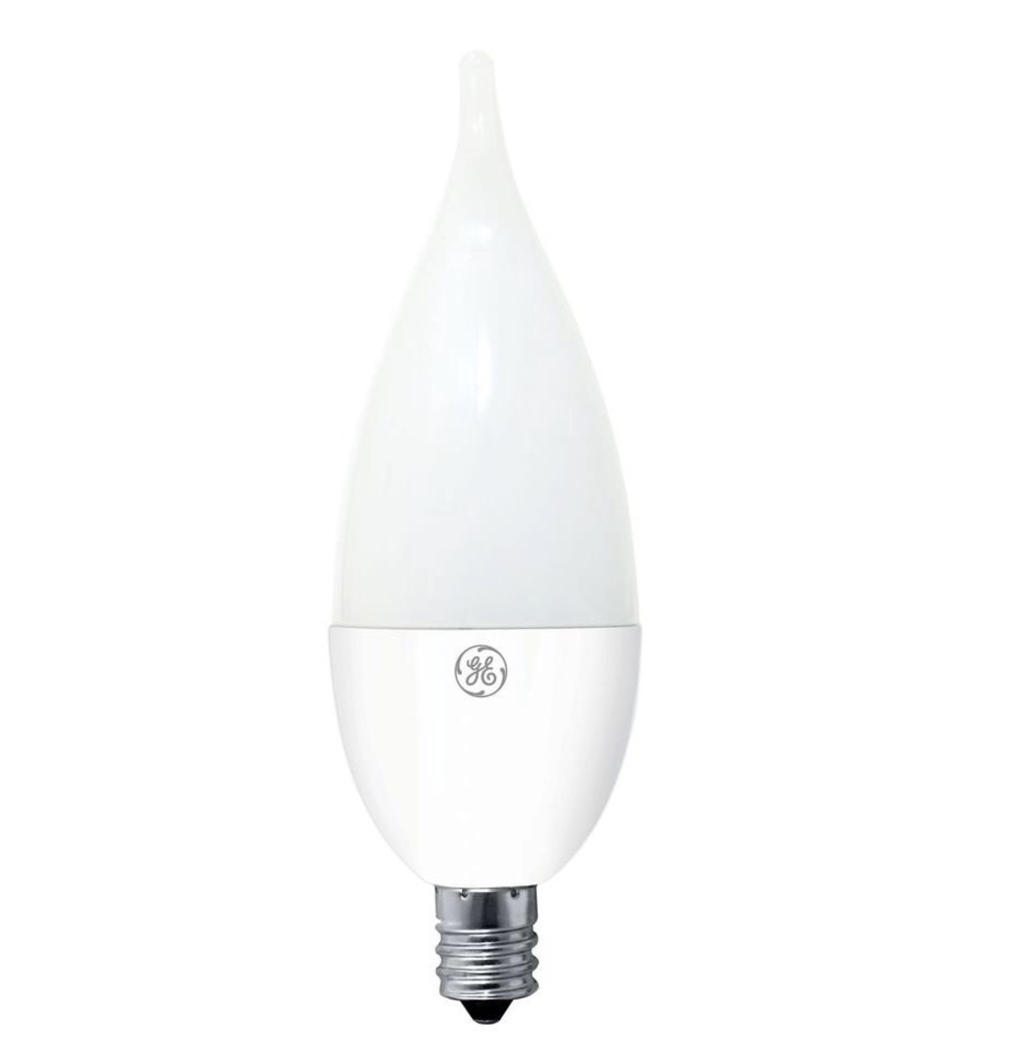 GE 40W Outdoor Soft White Clear Bent Tip Candelabra Base Dimmable LED CAC Bulb image 2