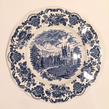 Wedgwood Enoch Royal Homes Of Britain Blue Transferware Dinner Plate Cas... - $26.62