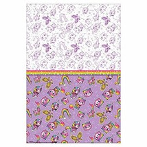 amscan Rainbow Butterfly Unicorn Kitty Design Plastic Table Cover-1pc, Purple/Wh - $11.83