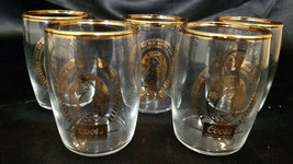 COORS BEER TUMBLERS GOLD RIM 4 OZ. (SET OF 5) - $13.50