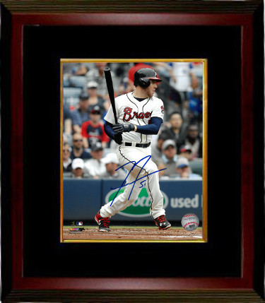 Freddie Freeman signed Atlanta Braves 8x10 Photo Custom Framed #5- PSA/JSA/BAS G